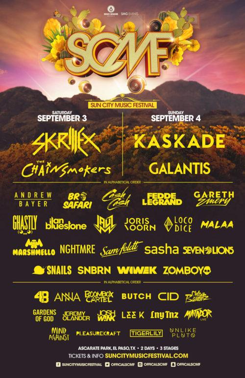 sun city music festival 2015 poster