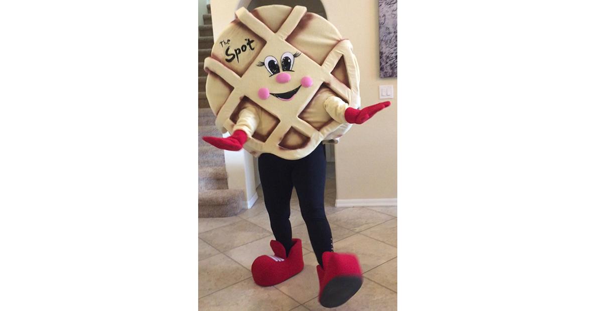 the spot waffle mascot