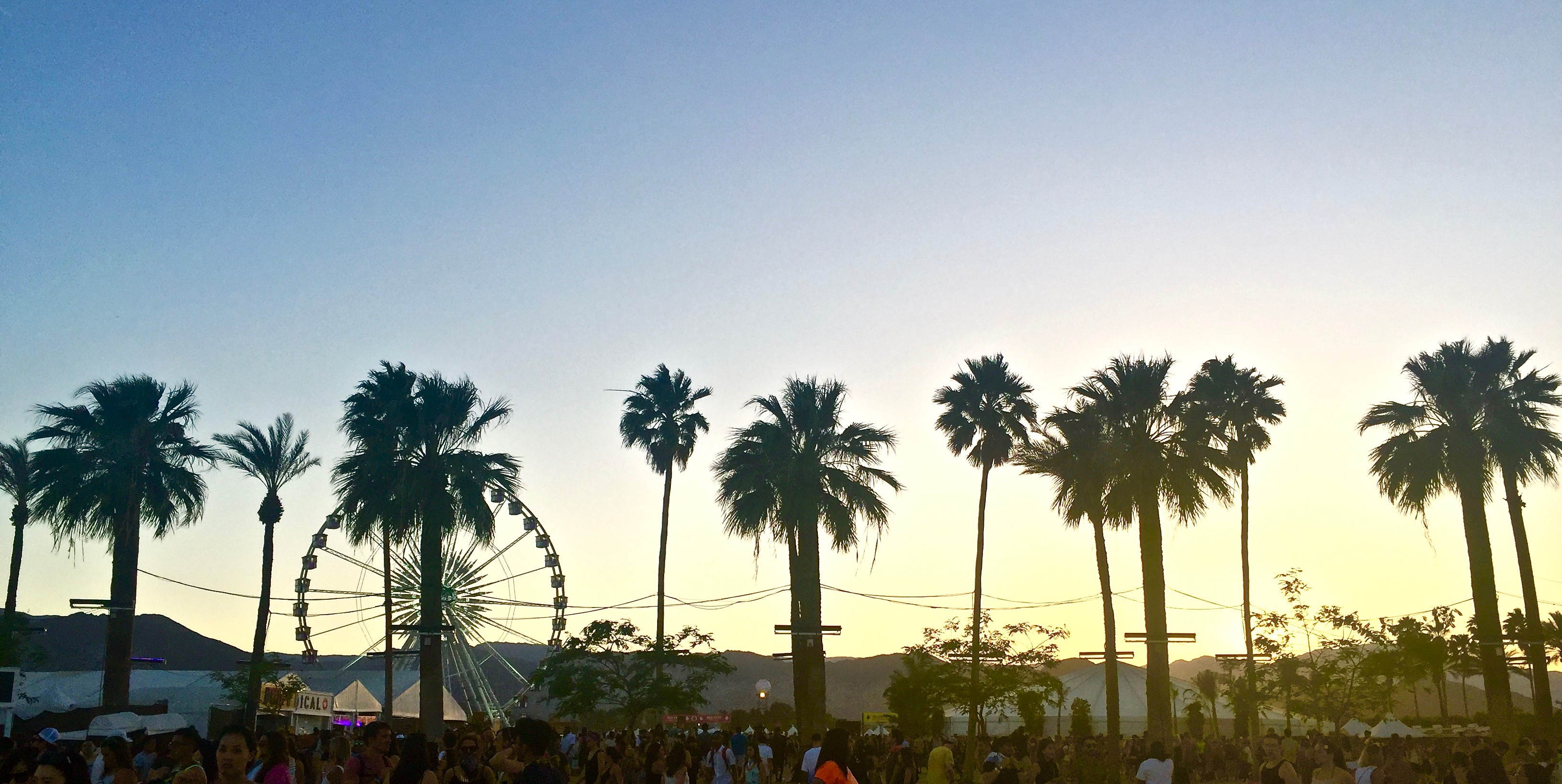 Coachella sunset 2016